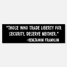 Franklin Quote Liberty For Security Car Car Sticker