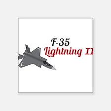 "F-35 Lightning II Square Sticker 3"" x 3"""