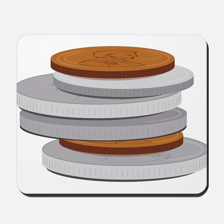 Coins Mousepad