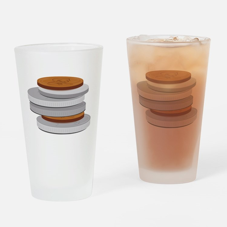 Coins Drinking Glass