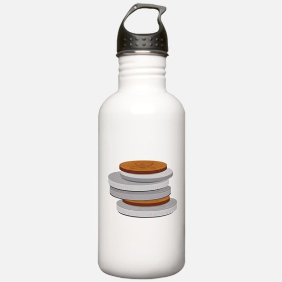 Coins Water Bottle