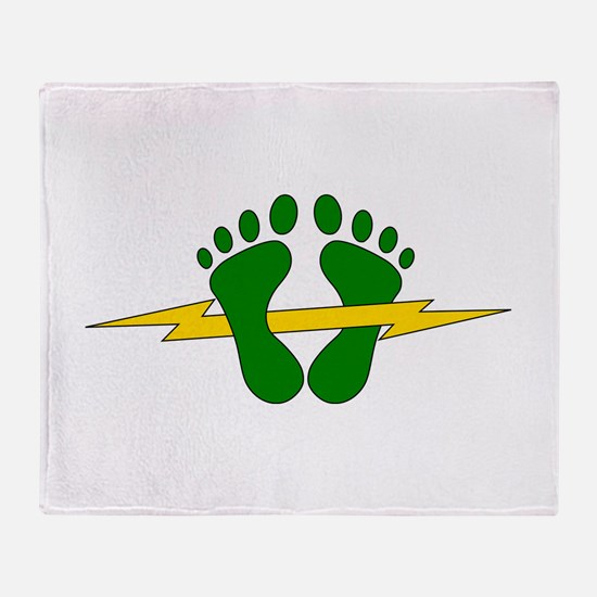 Green Feet - PJ Throw Blanket