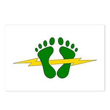 Green Feet - PJ Postcards (Package of 8)