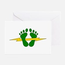 Green Feet - PJ Greeting Cards (Pk of 10)