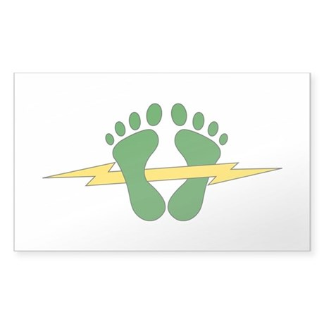 Green Feet - PJ Sticker (Rectangle)