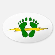 Green Feet - PJ Sticker (Oval)