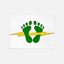 Green Feet - PJ 5'x7'Area Rug
