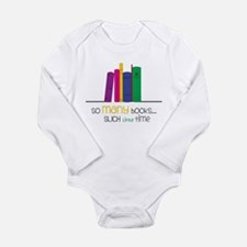 So Many Books Long Sleeve Infant Bodysuit
