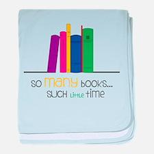 So Many Books baby blanket