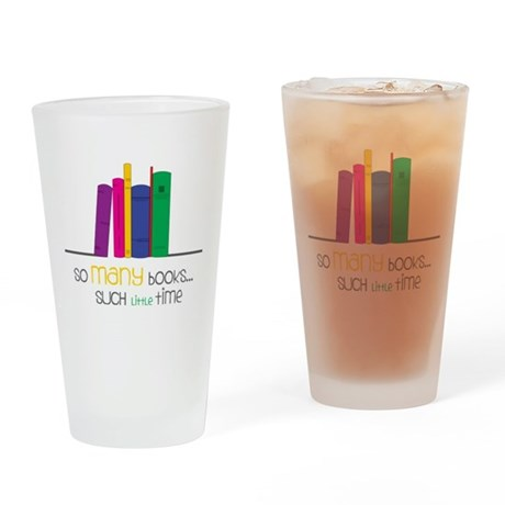 So Many Books Drinking Glass