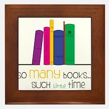 So Many Books Framed Tile