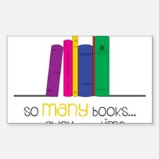 So Many Books Decal