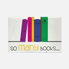 So Many Books Rectangle Magnet