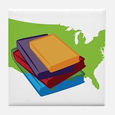 Read Books Tile Coaster