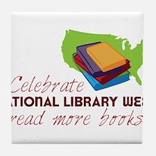 Library Week Tile Coaster