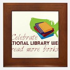 Library Week Framed Tile