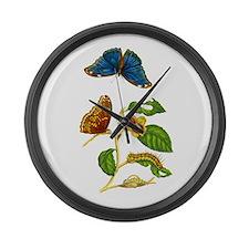 Maria Sibylla Merian Botanical Large Wall Clock