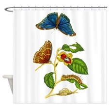 Maria Sibylla Merian Botanical Shower Curtain
