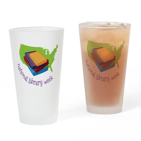 National Library Week Drinking Glass