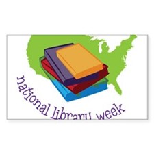 National Library Week Decal