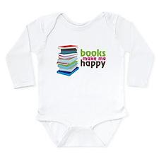 Books Make Me Happy Long Sleeve Infant Bodysuit