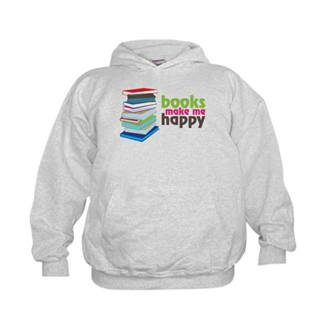 Books Make Me Happy Kids Hoodie