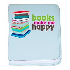 Books Make Me Happy baby blanket