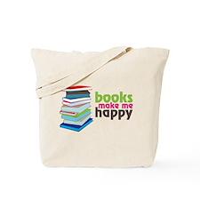 Books Make Me Happy Tote Bag
