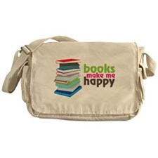 Books Make Me Happy Messenger Bag