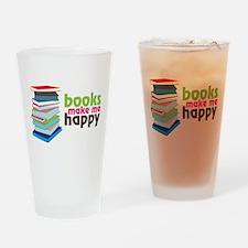 Books Make Me Happy Drinking Glass