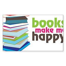 Books Make Me Happy Decal