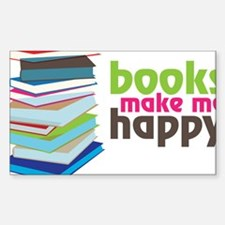 Books Make Me Happy Decal