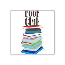 "Book Club Square Sticker 3"" x 3"""