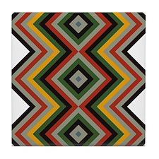 Modernized Navajo Pattern Tile Coaster