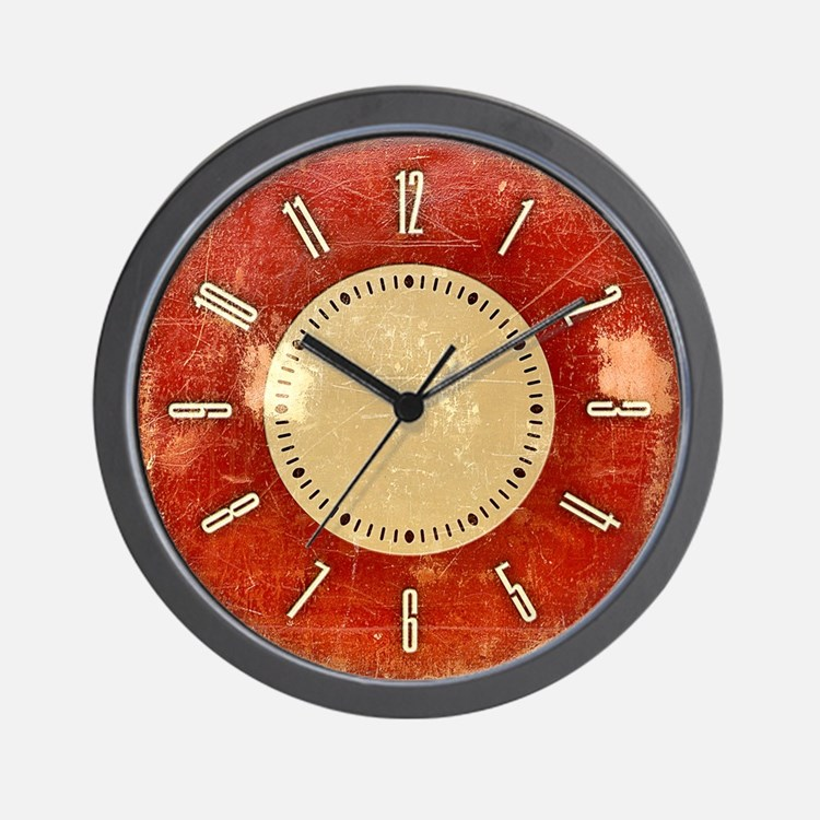 retro-red_cl.jpg Wall Clock