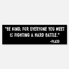 Plato Be Kind Car Car Sticker