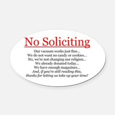 No Soliciting Oval Car Magnet