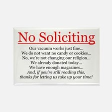 No Soliciting Rectangle Magnet