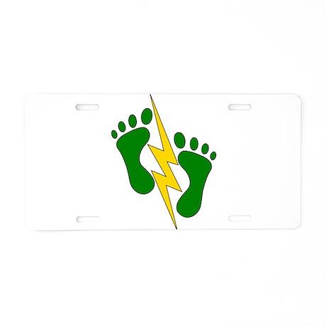 Green Feet 2 - PJ Aluminum License Plate