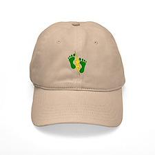 Green Feet 2 - PJ Baseball Baseball Cap