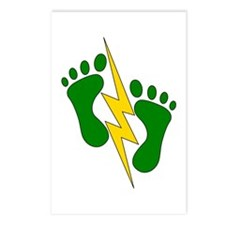 Green Feet 2 - PJ Postcards (Package of 8)
