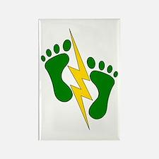 Green Feet 2 - PJ Rectangle Magnet
