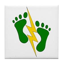 Green Feet 2 - PJ Tile Coaster