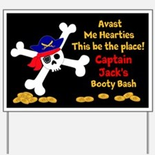 Personalized Pirate Party Themed Yard Sign