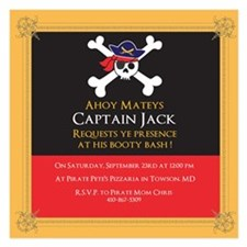 Personalize It Yourself Pirate Party Invitations