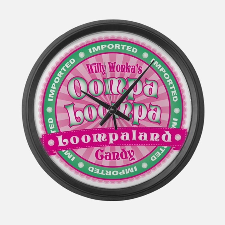 Oompa Loompa Candy Large Wall Clock
