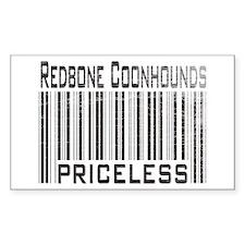 Redbone Coonhounds Rectangle Decal