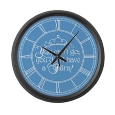 cant-go-tiara_cl.png Large Wall Clock