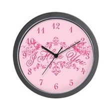 Fancy Pink I Hate You Wall Clock