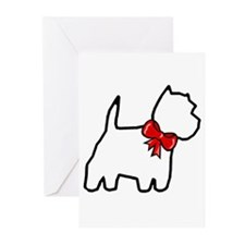 Holiday Westie Greeting Cards (Pkg/6)